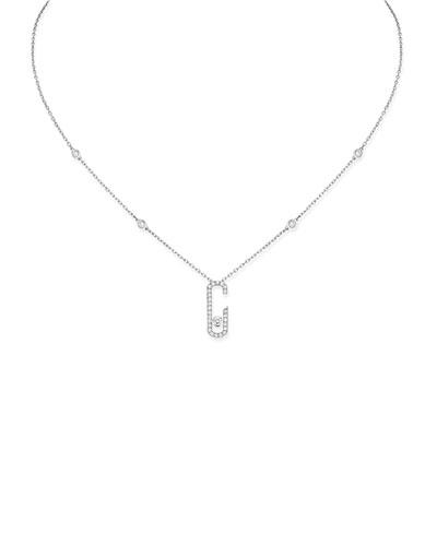 Move Addiction Diamond Necklace in 18K White Gold