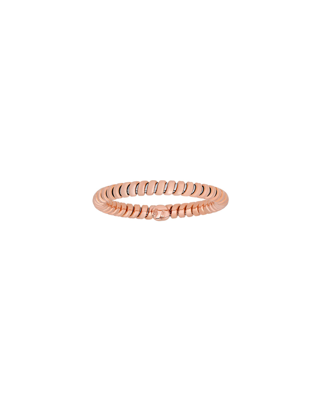 Via Bagutta 18K Rose Gold Tubogas Band Ring, Size 7