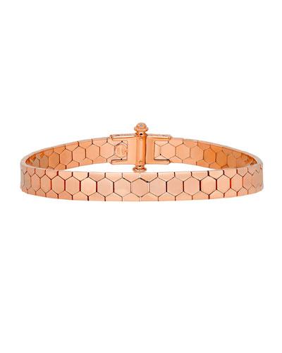 ALBERTO MILANI POLYGON BANGLE BRACELET IN 18K ROSE GOLD