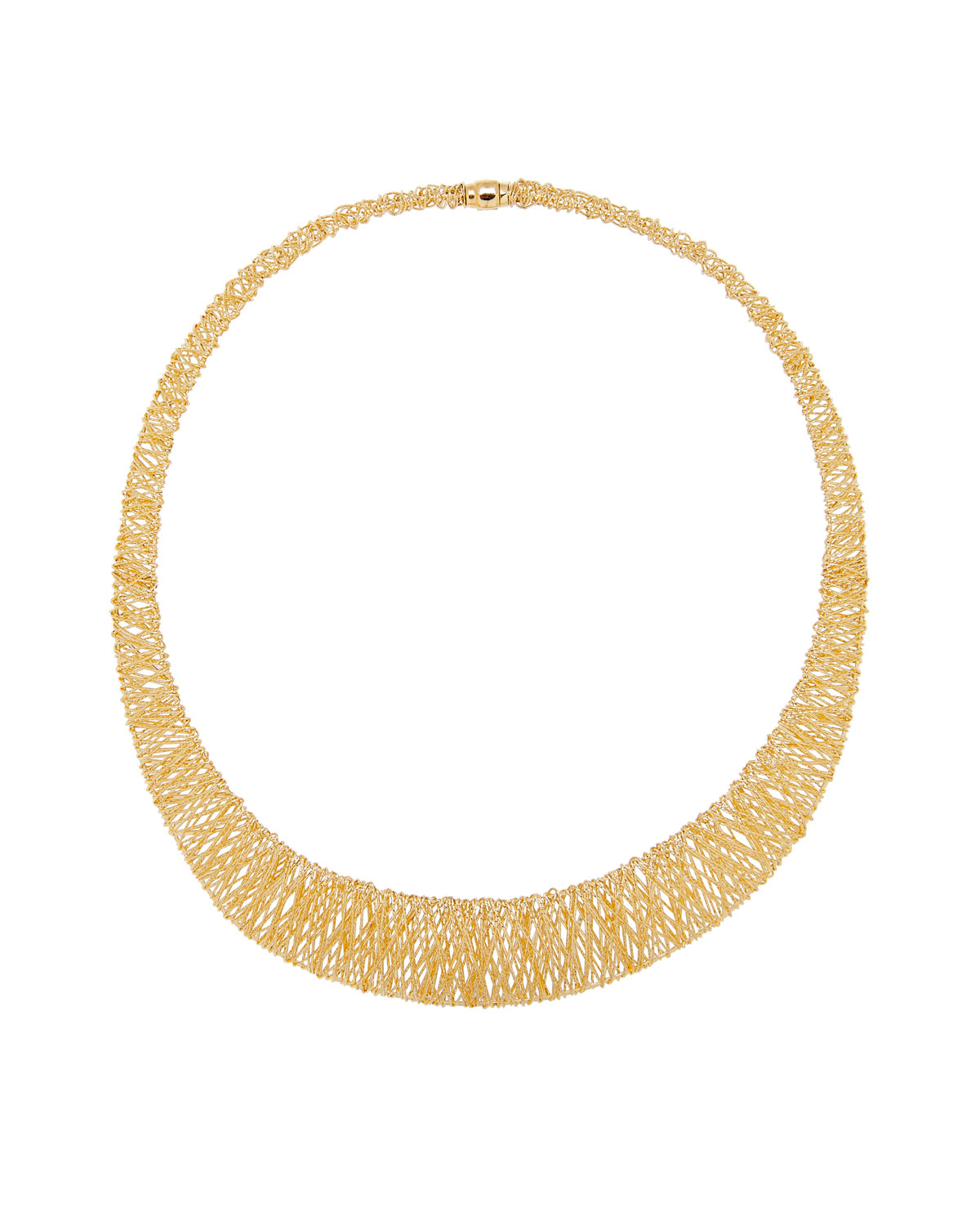 Piazza Duomo 18K Gold Graduated Mesh Collar Necklace