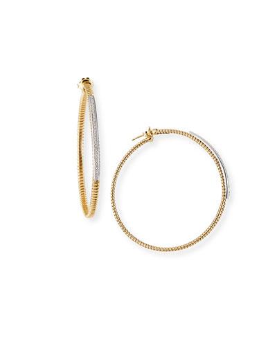 Tubogas Hoop Earrings with Diamonds