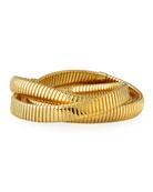 Triple Tubogas Spring Rolling Bracelet