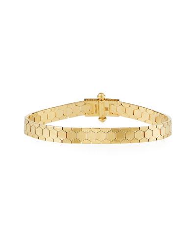 Polygon Bangle Bracelet in 18K Gold