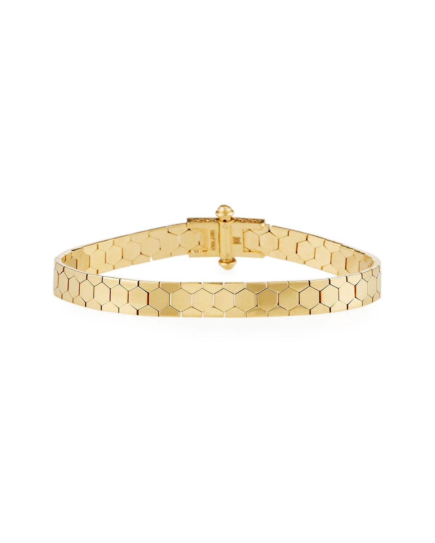 Piazza Castello 18K Gold Polygon Bangle Bracelet