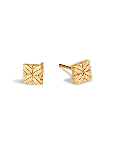 685e012a4 Quick Look. John Hardy · Modern Chain 18K Square Stud Earrings