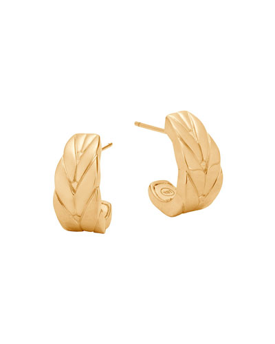 Modern Chain 18K J Hoop Earrings