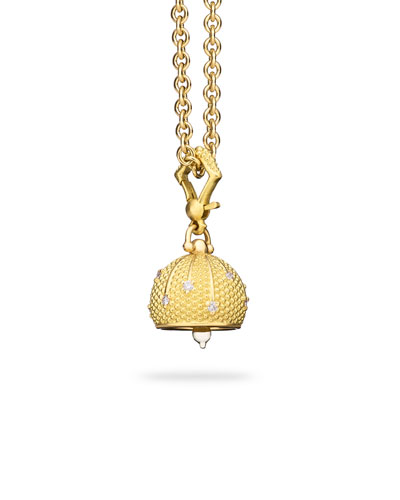 3 Sequence Mediation Bell Charm with Diamonds