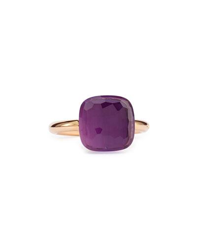 Nudo Rose Gold & Amethyst Ring, Grande