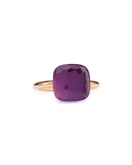Pomellato Nudo Rose Gold & Amethyst Ring, Grande, Size 5.5