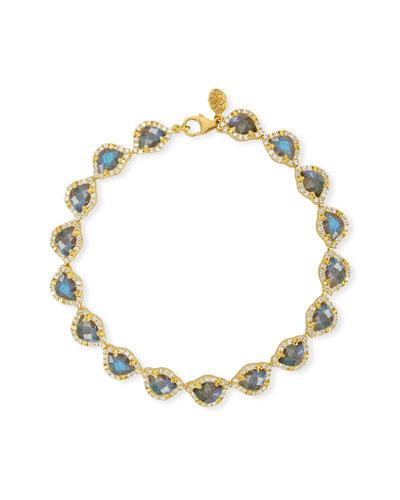 LEGEND AMRAPALI KAMALINI LOTUS LINK BRACELET WITH LABRADORITE & DIAMONDS