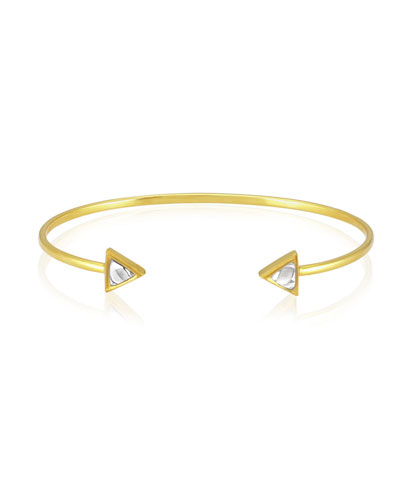 Kundan Open Diamond Triangle Cuff Bracelet