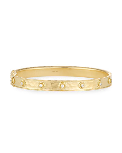 Revati Diamond-Studded Bangle Bracelet