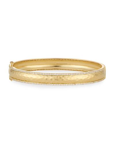 Chadni Hinged Bangle Bracelet with Diamonds