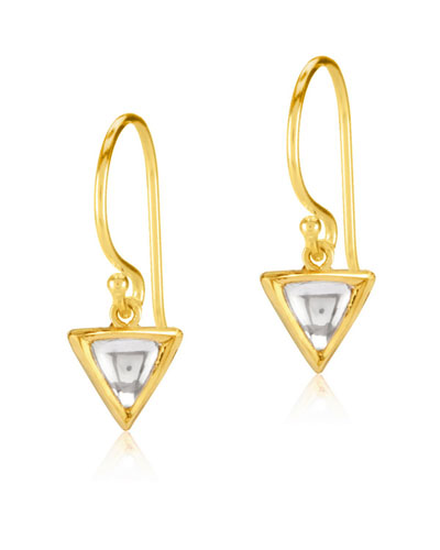Kundan Diamond Triangle Drop Earrings
