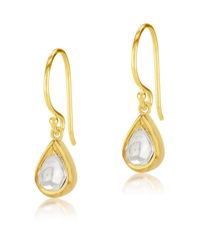 Kundan Diamond Teardrop Earrings