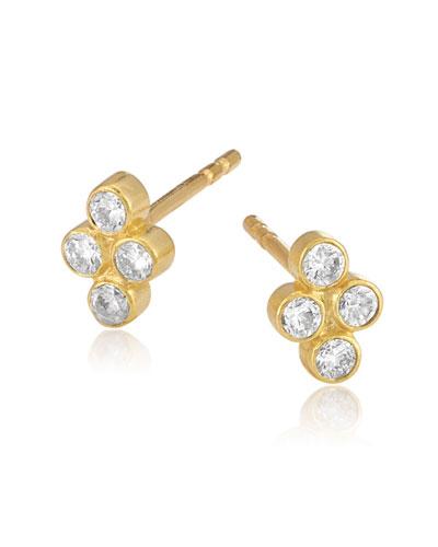 Tarakini Diamond Bezel Quad Earrings