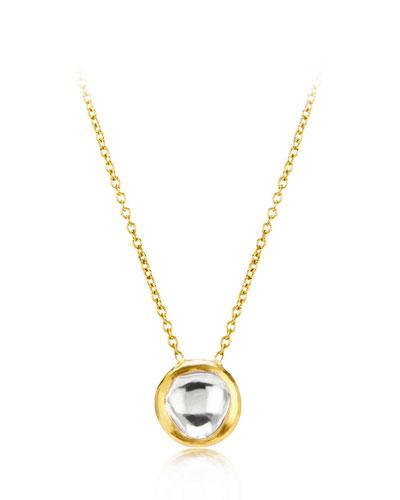 Kundan Diamond Bezel Pendant Necklace