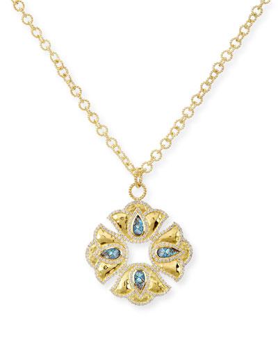 LEGEND AMRAPALI KALIYANA LOTUS PENDANT NECKLACE WITH DIAMONDS
