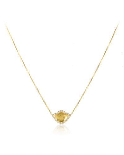 Nalika Lotus Pendant Necklace with Diamonds