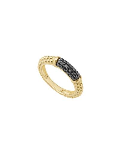 Gold & Black Caviar Collection 18K Gold & Black Diamond Ring