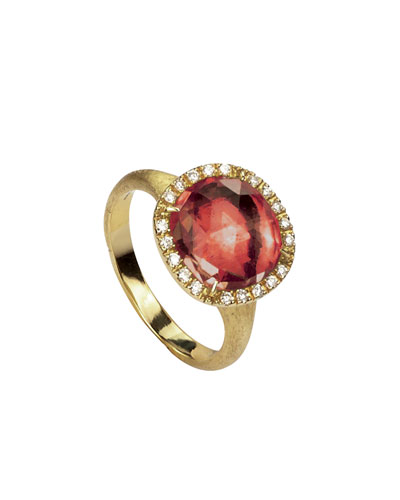 Jaipur 18k Pink Tourmaline & Diamond Cocktail Ring