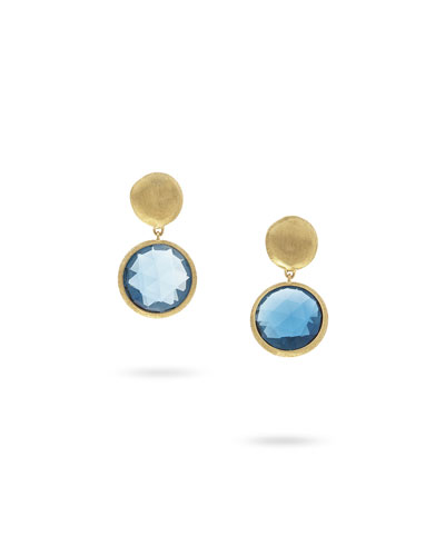 Jaipur Drop Earrings with London Blue Topaz