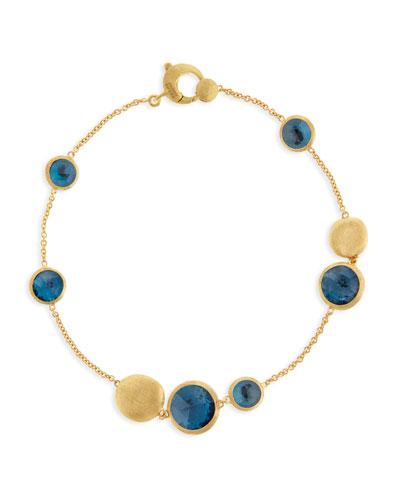 Jaipur Blue Topaz Station Bracelet