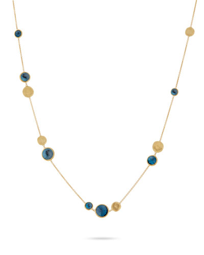 Jaipur 18K Gold & Blue Topaz Station Necklace