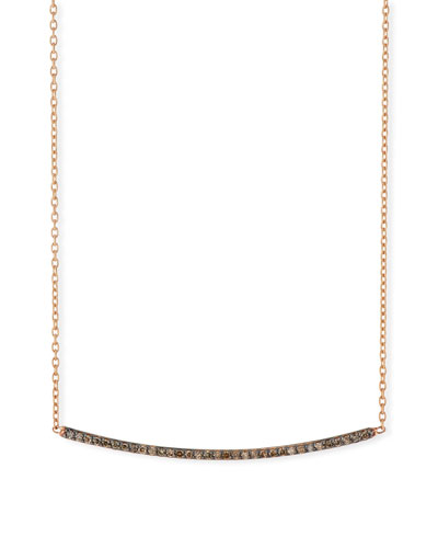 Lumiere Champagne Diamond Bar Necklace