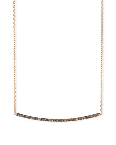 Lumiere Champagne Diamond Bar Necklace