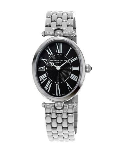 Ladies' Classics Art Deco Stainless Steel Watch, Black