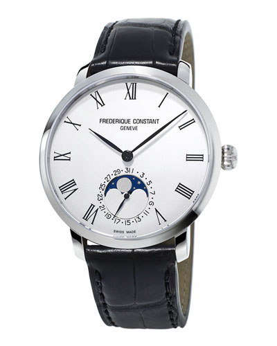 42mm Men's Slimline Moonphase Manufacture Watch