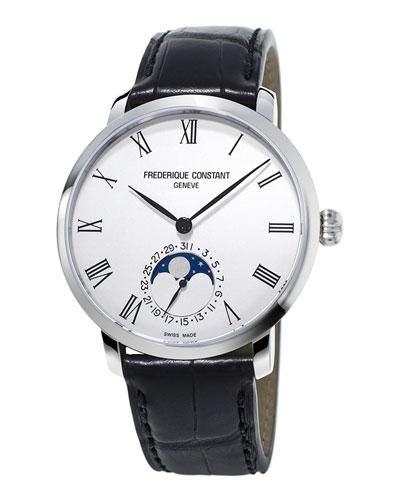42mm Men's Slimline Moonphase Manufacture Watch