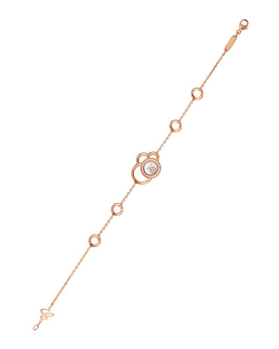 Happy Dreams Circle Diamond Station Bracelet in 18K Rose Gold