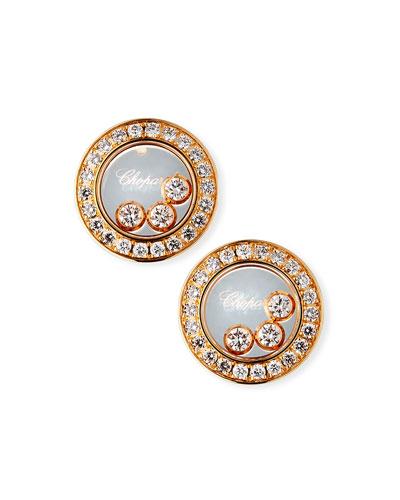 18k Rose Gold Diamond Icon Stud Earrings