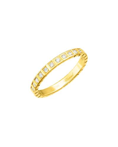 CHOPARD ICE CUBE MINI DIAMOND RING IN 18K YELLOW GOLD, SIZE 52