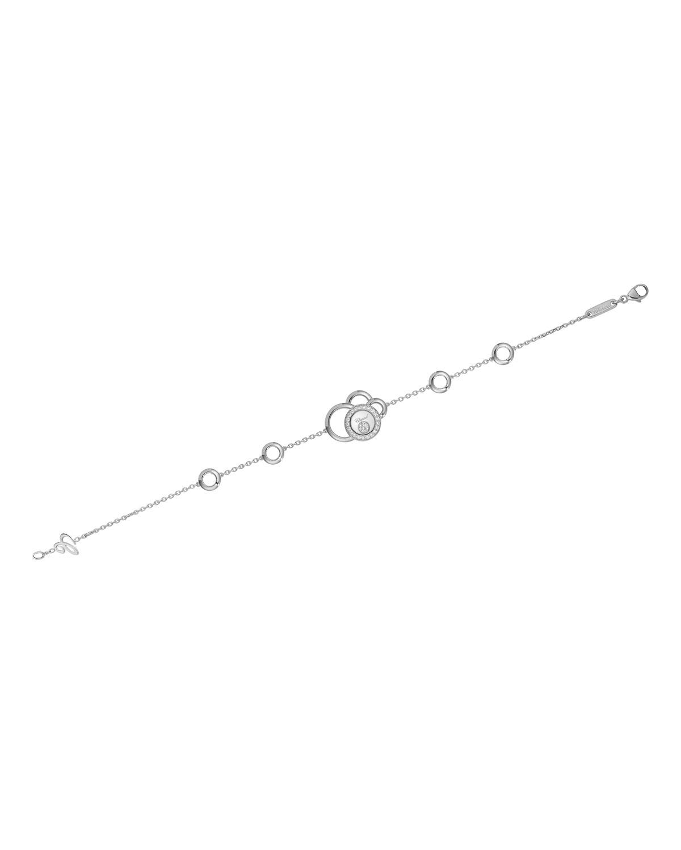 Happy Dreams Semi Pave Diamond Bracelet in 18K White Gold