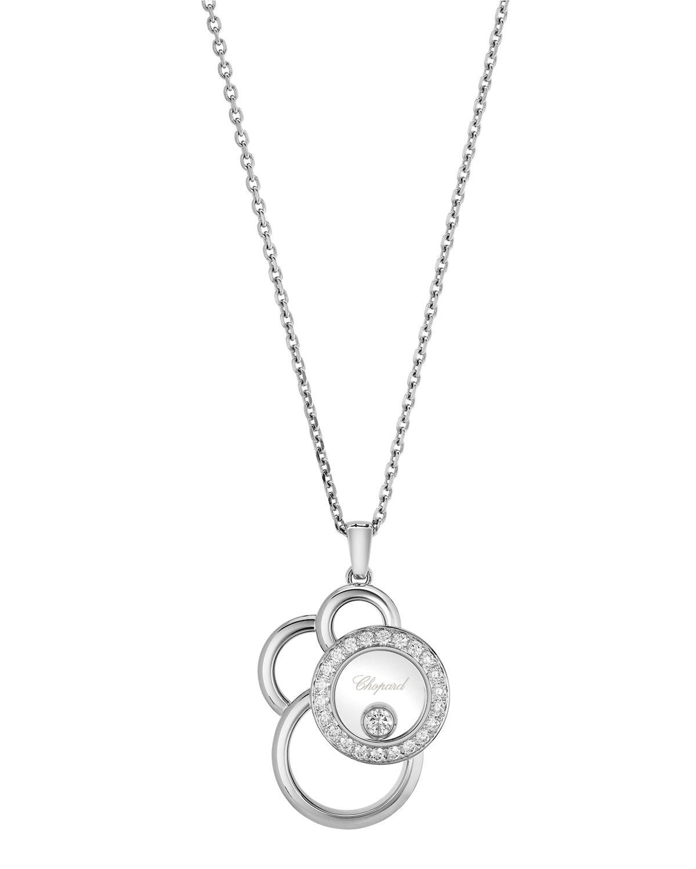 Happy Dreams Semi Pave Diamond Pendant Necklace