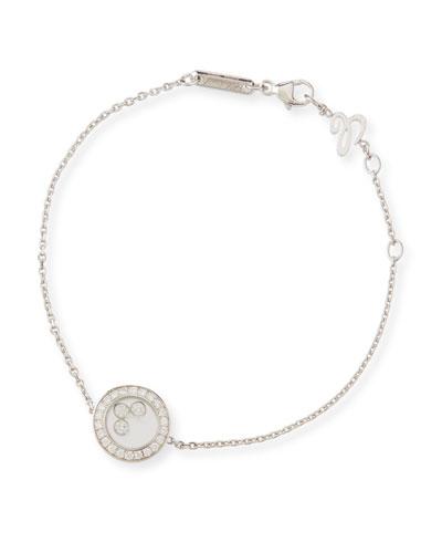 18k White Gold Happy Diamonds Bracelet