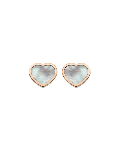 Happy Hearts Mother-of-Pearl Stud Earrings