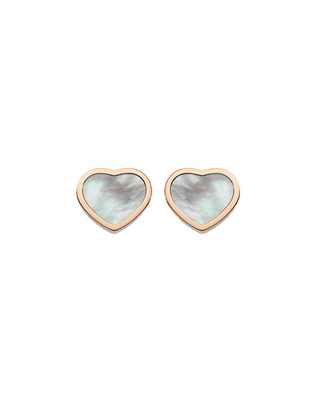 Chopard Happy Hearts Mother-of-Pearl Stud Earrings