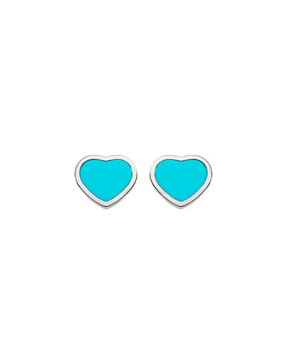 Happy Hearts Turquoise Stud Earrings