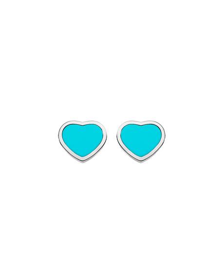 Chopard Happy Hearts Turquoise Stud Earrings