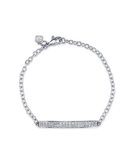 Sydney Evan Pave Diamond ID Bracelet in 14K White Gold
