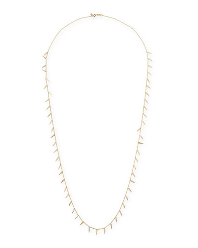 Long Diamond Fringe Necklace, 30