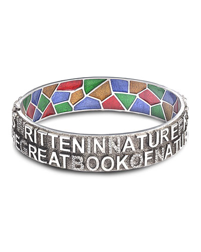 COOMI Sagrada Familia 12Mm Bangle Bracelet With Diamonds