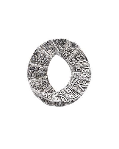 COOMI Sagrada Familia Engraved Round Pendant