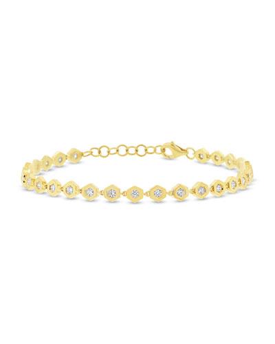 RON HAMI DIAMOND LOVE BOLT BRACELET IN 14K GOLD