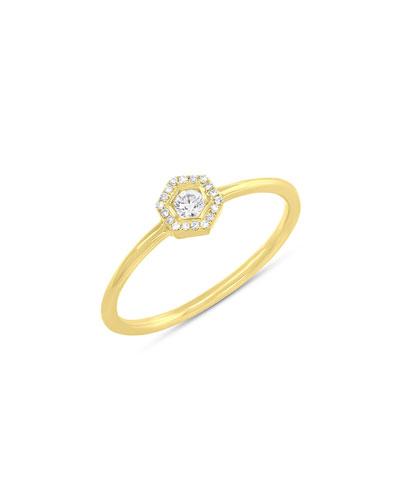 RON HAMI PAVÉ LOVE BOLT RING WITH DIAMONDS, SIZE 7