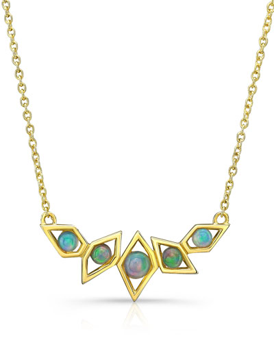 RON HAMI Birds Of Paradise Opal Necklace